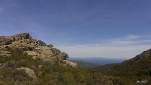 Jour 2. Vue sur l'île de Capraia et l'archipel toscan depuis les crêtes du Cap Corse.