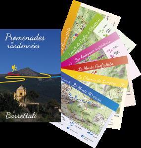 La pochette contenant les fiches itinéraires praticables à Barrettali