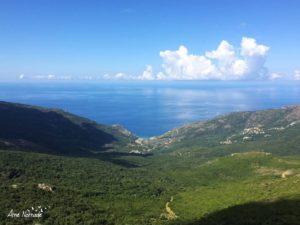 La vallée de Barrettali depuis les crêtes du Cap Corse