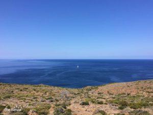 Côté occidental du sentier des douaniers de la pointe du Cap Corse