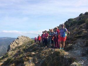 Tout le groupe sur les crêtes du Cap Corse