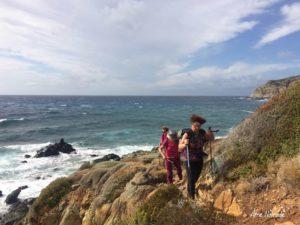 Journée de vent sur la partie occidentale du sentier des douaniers de la Pointe du Cap Corse